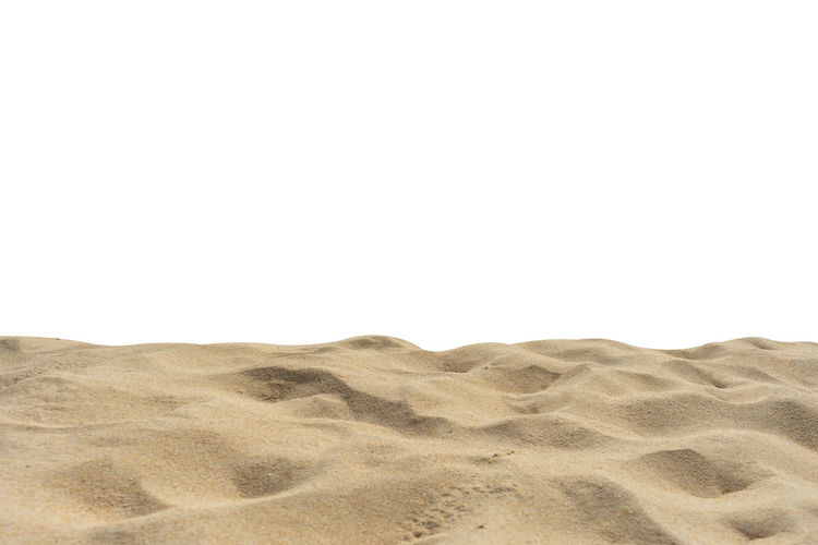 Beach sand texture idolated Di-Cut white background. Isolated On White Textured  Beach Summer Sand Pattern Yellow Brown Copy Space Land Sand Dune Desert Climate Arid Climate Sky No People Nature Clear Sky Tranquility Beauty In Nature Landscape Day Scenics - Nature Tranquil Scene Outdoors