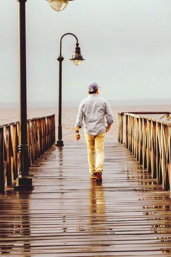 Walking Around Caminar One Person Sea Port Landscape
