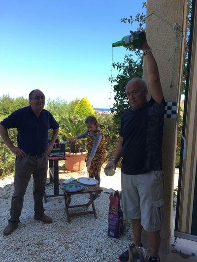 Escanciando una sidra asturiana