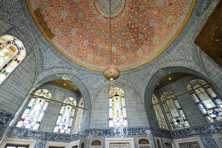 Arch Architectural Column Architecture Built Structure Ceiling Day Dome Indoors  Low Angle View No People Oriental Ottoman Architecture Ottoman Style Ottomanpalace Place Of Worship Rich Travel Destinations Window The Architect - 2017 EyeEm Awards