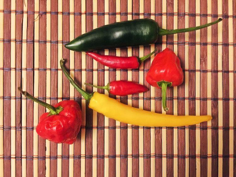 Food Vegetable Red Freshness Red Chili Pepper Jalapeno habanero rawit First Eyeem Photo