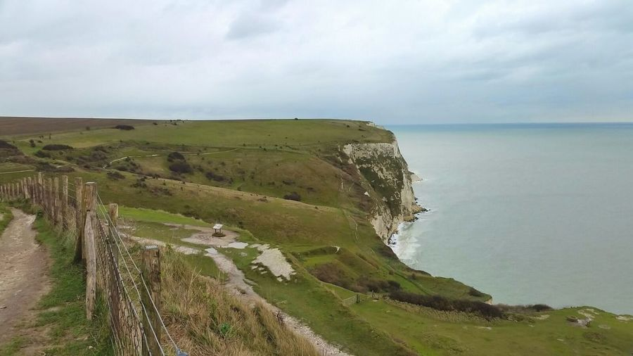 Sea Landscape Cliff Rural Scene Nature Rock - Object Dramatic Sky Scenics No People Limestone Fossil Outdoors White Cliffs Of Dover The Great Outdoors Outdoors.