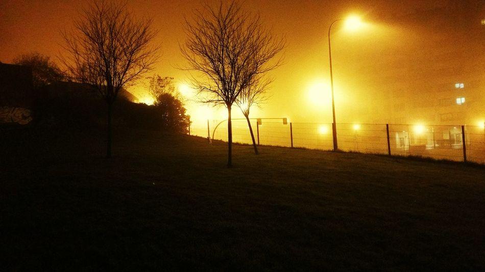 Eyeemasturies Foggy Night Urbanphotography Urban Landscape Like Fire Night Lights