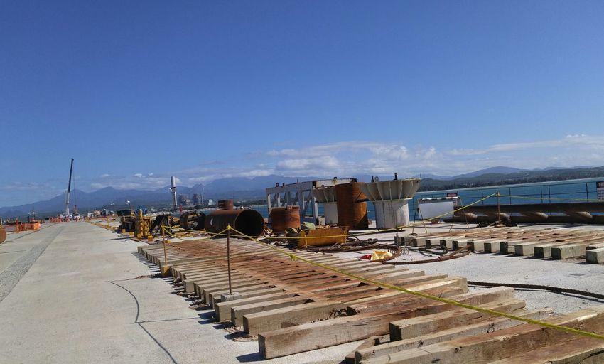 EyeEm Selects Outdoors Water Beach Clear Sky Horizon Over Water Construction Site Pier Odebrecht