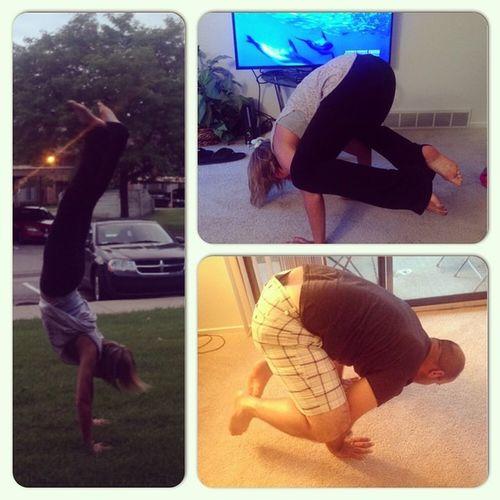 This is what we do for fun?? Yogaeverydamnday Yogis Weloveyoga @paulfanone