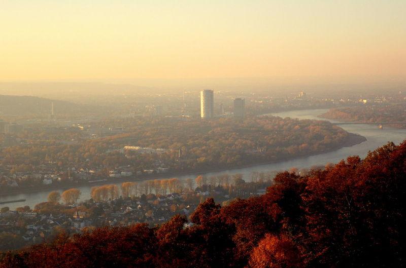 Bonn in autumn View from Petersberg Bonn Bonn In Autumn View From Petersberg