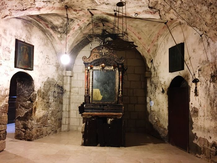 Inside The Holy Sepulcher Architecture Arch Illuminated Mystical Atmosphere Holyplace