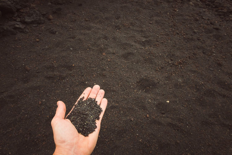 Black Black Sand Black Sand Beach Volcano Volcanic Landscape Volcanic Rock Volcanic Island Volcanic Sand Hand Subjective Subjective Vision Lunar Human Hand Beach Water Sand Personal Perspective Close-up