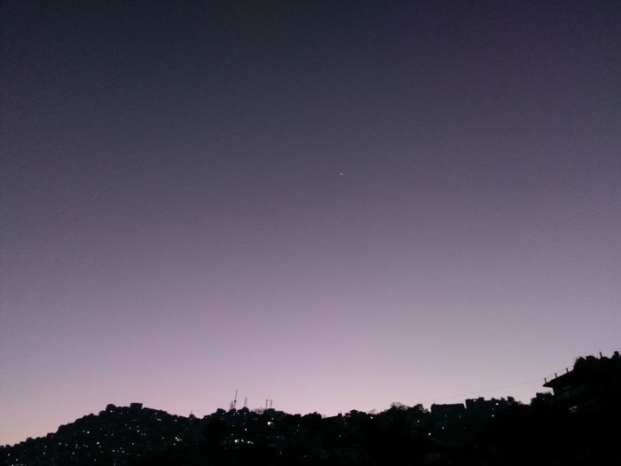Clear Sky Beauty In Nature Purplepink Scenics