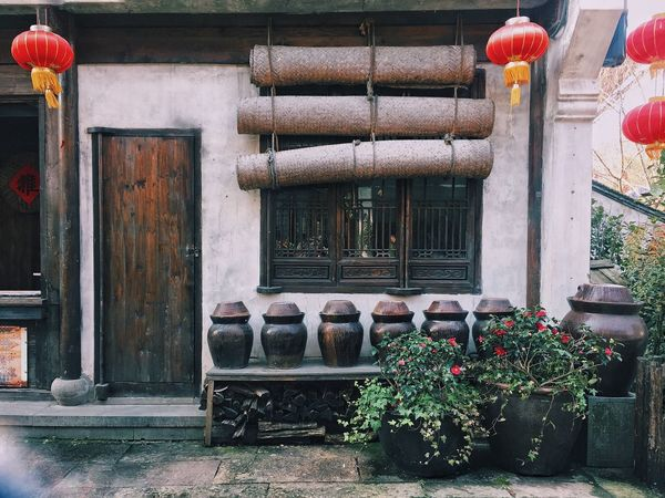 Streetphotography Street Street Photography Plant Architecture Building Exterior Outdoors Flower Flowers Door Traveling In China