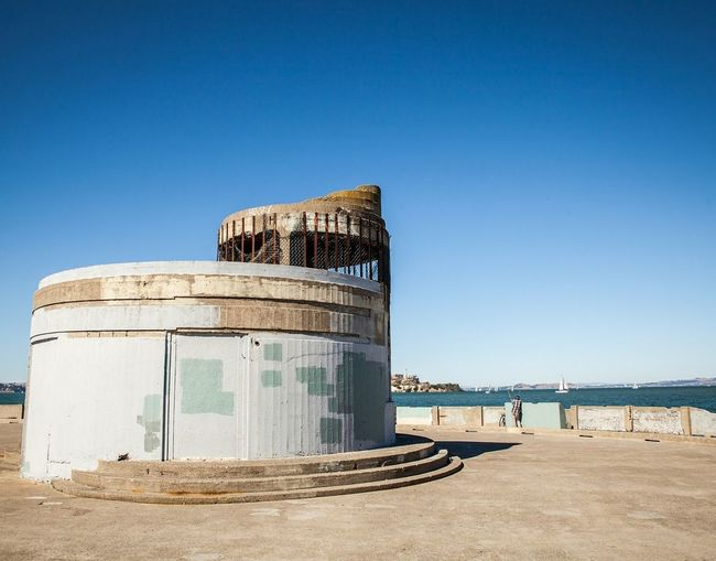 Sea Outdoors Day Architecture Clear Sky Sunny Blue Urban Decay Closed Places Sun Clear Sky Architecture Concrete Pier