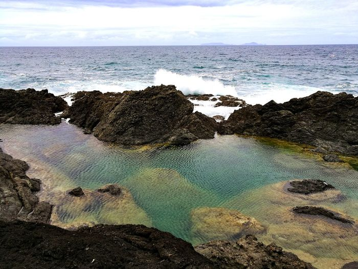 Mermaid Pools New Zealand Newzealandphotography Sea Water Nature No People Sky Beauty In Nature Cloud - Sky Horizon Over Water Travel Photography Perspectives On Nature Ocean Nature Traveler Travel Traveling Outdoors