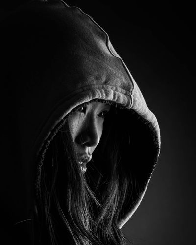 Photoshoot Asiangirl Beautiful ♥ Photooftheday Blackandwhite HOODIES Mouth Lips Jdanda Portrait Of A Woman