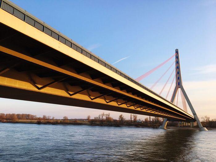 Fleher Brücke, Düsseldorf A46 Bridge - Man Made Structure Connection Transportation Engineering Architecture River Built Structure First Eyeem Photo