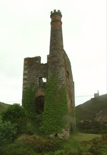 Architecture Building Exterior No People Old Ruin Built Structure Outdoors Day Grass Sky Cornish Tin Mine