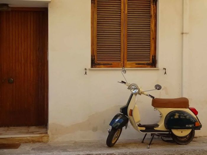 Scooter in Zante town Greece Zante Scooter Wooden Door Wooden Shutters No People Old Town EyeEm Selects