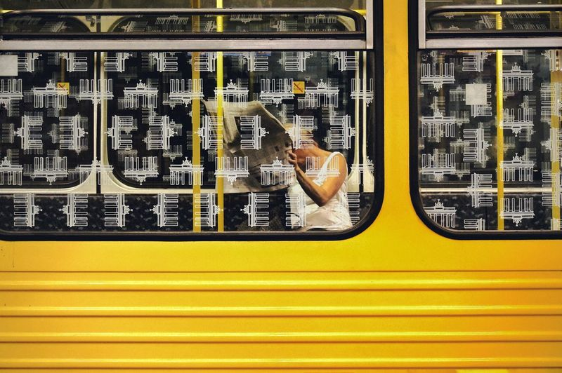 Adventures In The City Newspaper News Subway Streetphotography Street Photography Composition Berlin Train Colorful Yellow EyeEm Best Shots Eye4photography  Taking Photos Signs My Favorite Photo Fine Art Photography Colors Of Life Color Of Life
