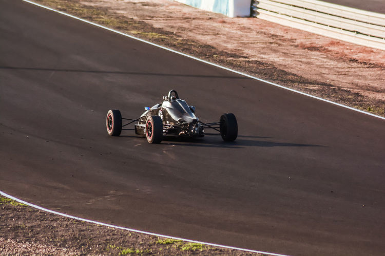 Racecar on sports track