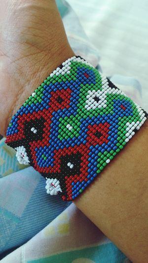 Huichol Mexico Traditional Jewerly Wraist Bracelet Friendship Bracelets
