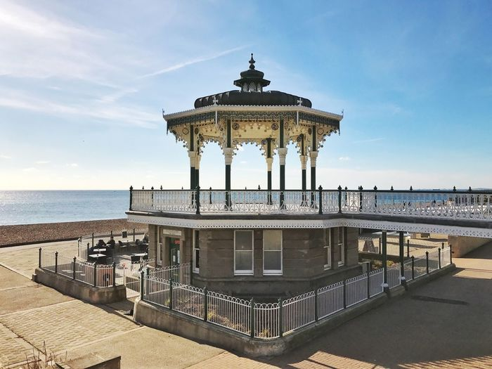 Gazebo On Shore Against Sky At Brighton