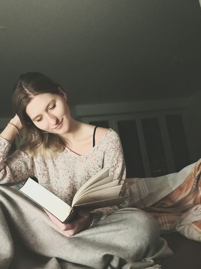 There are those words. Each of them can give us peace. They take us far away. Into an other reality. Women Indoors  Book Peaceful Words