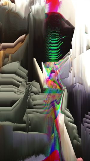 Abstract Glitch Pixelated Futuristic Technology Multi Colored Light Painting Abstract Backgrounds Cyberspace Dissolving