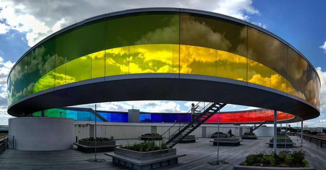 Cloud - Sky Arts Culture And Entertainment Sky Multi Colored Day Outdoors Architecture No People Aros ARos Art Museum Rainbow panorama