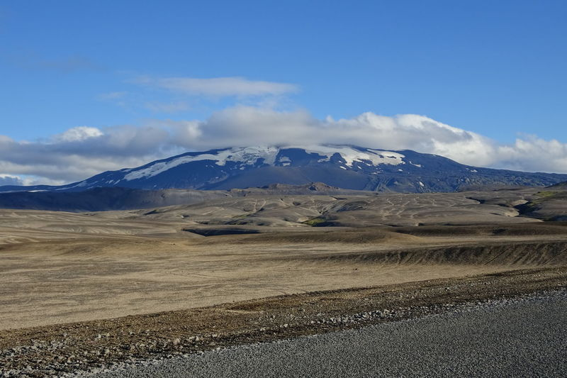 Beauty In Nature Cloud - Sky Cold Temperature Hekla Iceland Landscape Mode Of Transport Mountain Mountain Range Nature Non-urban Scene Scenics Season  Sky Snow Snowcapped Mountain Tourism Tranquil Scene Tranquility Transportation Travel Travel Destinations Vulcano Weather Winter