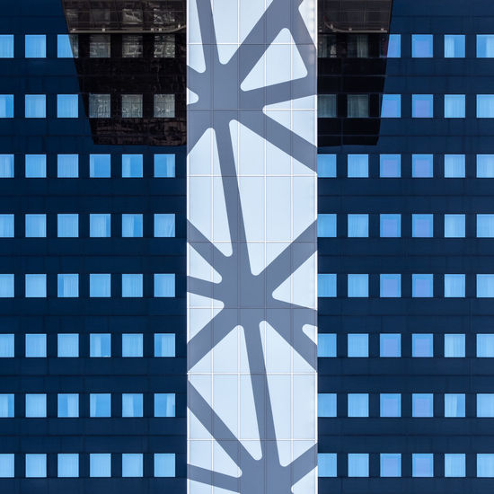Facadedetail Architecture Built Structure Minimalism Minimalist Photography  Fujix_berlin Ralfpollack_fotografie Building Exterior No People Building Pattern Day Blue Shape Glass - Material City Outdoors Reflection Window Modern Office Building Exterior