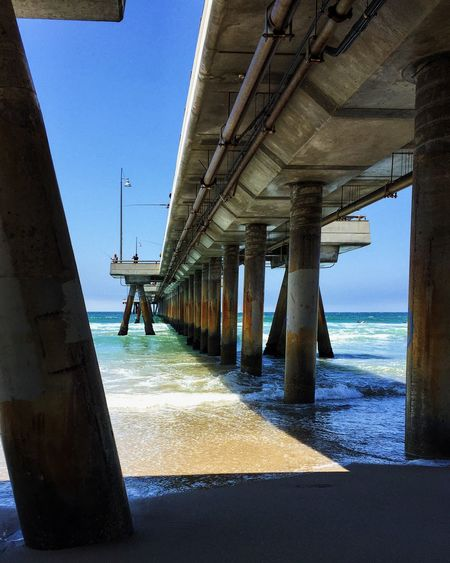 Venice Beach Pier Architectural Column Architecture Beach Built Structure Day Horizon Over Water Nature No People Outdoors Sea Sky Underneath Water EyeEmNewHere California Dreamin