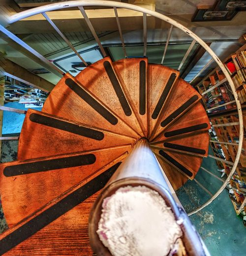 Close up of spiral staircase