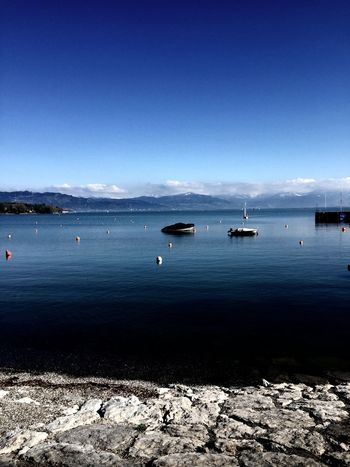 Alps Beauty In Nature Blue Boat Day Idyllic Lake Of Constance Germany Mode Of Transport Mountain Nature Nautical Vessel No People Non-urban Scene Outdoors Rippled Scenics Sky Tranquil Scene Tranquility Wasserburg Am Bodensee Water