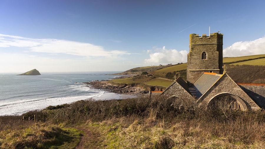 #Devon #Mewstone #Wembury #Wembury Church Architecture Building Exterior Built Structure Cloud - Sky Day No People Sea Sky Travel Destinations Water