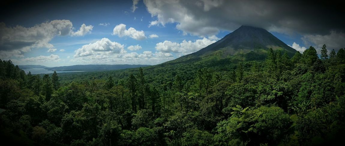 Volcan Arenal Volcano Enjoying The Sights On A Hike