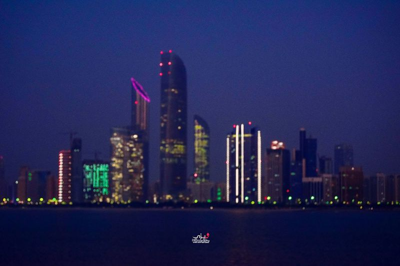 Architecture Skyscraper Building Exterior Built Structure Night City Illuminated Urban Skyline Water Outdoors Cityscape Sky Modern No People Nautical Vessel Nature