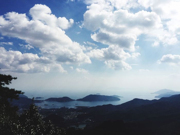 Sea And Sky Travel Travel Destinations Sky Nature Tranquility Beauty In Nature Cloud - Sky No People Mountain Landscape