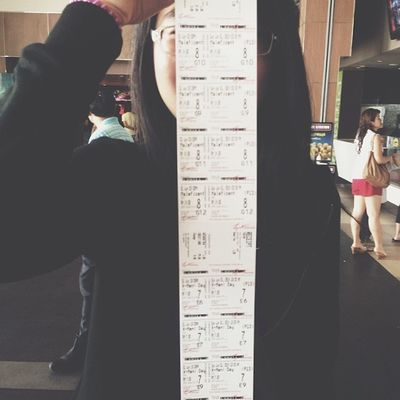 Went on a Movie marathon with the fujoshi gang today Xmen DaysOfFuturePast Maleficent 2014 overwhelmed moviemarathon tickets ancient chinese vampire pose