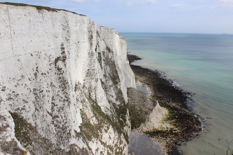 Beach Beauty In Nature Cliff Day Horizon Over Water Nature No People Outdoors Scenics Sea Sky Tranquil Scene Tranquility Water White Cliffs Of Dover