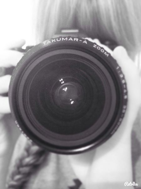 Picture of my taking a picture with an old camera :)