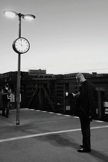 Public Transportation Streetphoto_bw Streetphotography Berlin Ubahn On the clock...