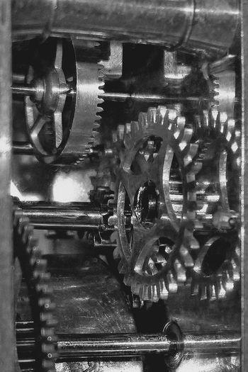 Antique Antique Clock Black & White Blackandwhite Close-up Control Detail Gear Wheel Gears Metal Metallic Monochrome Old Old Clock Old-fashioned Part Of Clock Clock Mechanism Clockwork Mechanics Precision Macro_collection Fine Art Photography