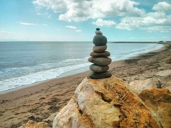 Apacheta Beach Beachphotography Catalunya Montroig Del Camp Stone Stone Art Rocks Pile Of Stones Pile Of Rocks First Eyeem Photo Meditation Relax Calm