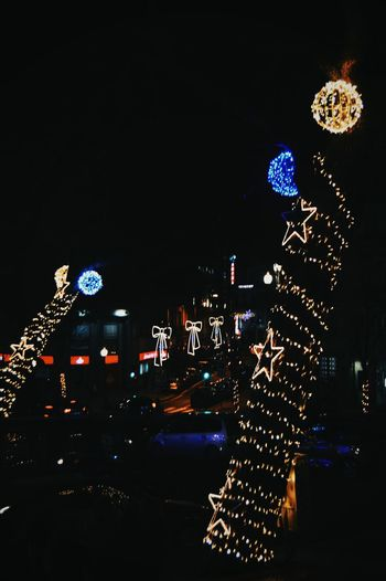 Christmas Decoration Christmas Ornament Streetphotography Nightilfe Something Different Starlight Christmas Lights Endoftheroad Crazybeautifulcity
