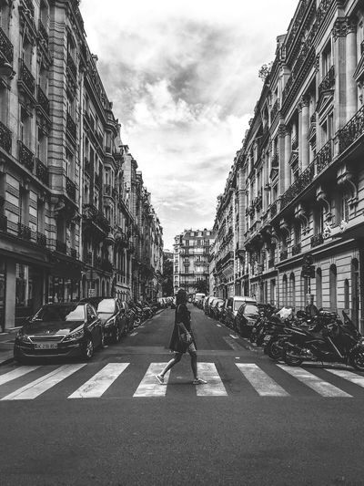 Building Exterior Architecture Built Structure Sky Street Day Transportation Outdoors Full Length Men City Cloud - Sky Road Real People Women One Person Adult People EyeEm Best Shots From My Point Of View