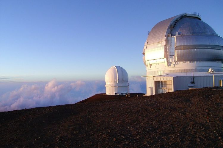 Astronomical Observatory Astronomical Telescope in Hawaii Big Island Sunshine ☀ Mountain View Blue Sky Sunny Beautiful Nature