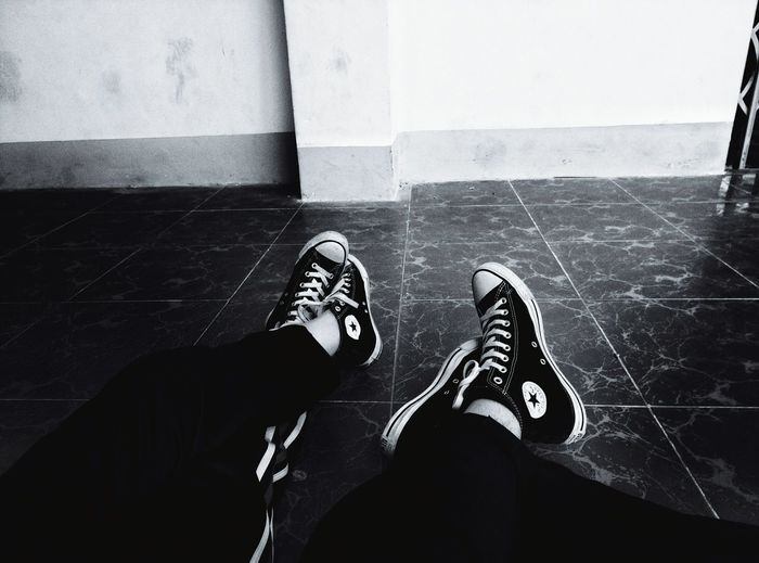 Friends Friend Friendship School School Uniform Physical Education Lifestyles Shoe Converse Converseallstar ConverseChuckTaylors Black White Blackandwhite Blackandwhite Photography Black And White Collection