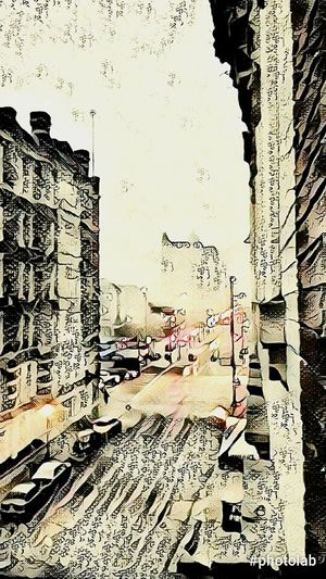 City, Cincinnati Built Structure Architecture Building Exterior No People Day Outdoors downtown Feline Relaxation Mirror Digital Manipulation Abstract Expressionism digital, city scape City