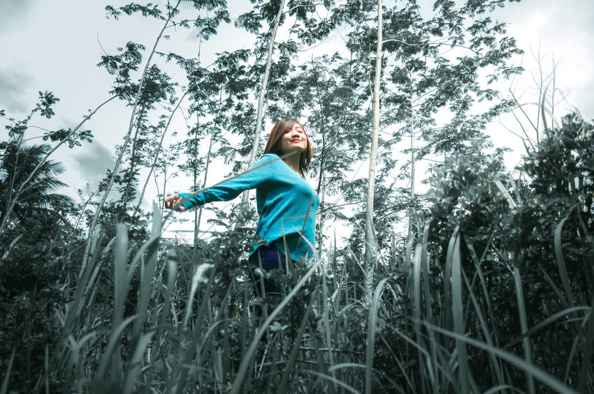 ASIA Grass Happiness Happy INDONESIA Nature Plant Woman First Eyeem Photo Girl Model Outdoors People Smiling Women