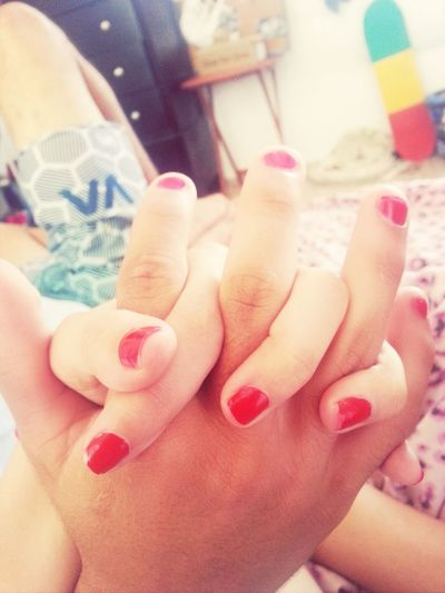 painted my babes nails Boyfriend Nailsdone Love Yourhandsfitperfectlyinmine