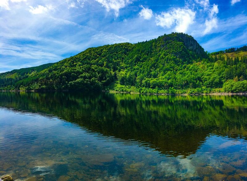 Perspectives On Nature Reflection Lake Water Tree Sky Scenics Beauty In Nature Tranquil Scene Nature Outdoors Cloud - Sky Tranquility No People Landscape Green Color Mountain Day